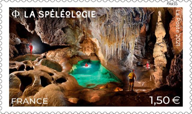 26/07/21 : La Poste émet un timbre sur la spéléologie
